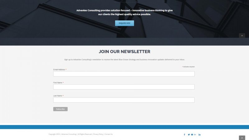 Advantex join homepage by Blue Pixel