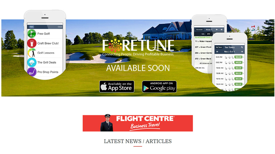 Foretune website page created by Blue Pixel